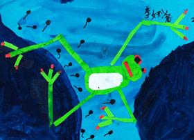 小蝌蚪找妈妈-儿童画启智A班-2019年6月21日【春季班/高峰店】新起点画苑-学生作品