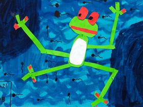 小蝌蚪找妈妈-儿童画启智B班-2019年6月21日【春季班/高峰店】新起点画苑-学生作品
