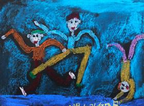 街舞-儿童画基础班-2019年6月22日【春季班/高峰店】新起点画苑-学生作品