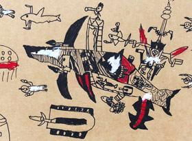 动物创想-儿童画创想B班-2019年6月22日【春季班/高峰店】新起点画苑-学生作品