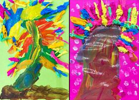 彩虹桉树-儿童画启智班-2019年7月6日 ★春季班/新围店★ 新起点画苑-学生作品