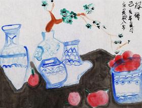 青花瓷-国画班-2019年7月13日 ◆暑假班/新围店◆ 新起点画苑-学生作品