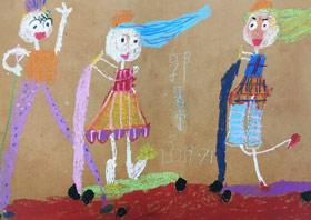玩滑板车-儿童画班-2019年7月13日 ◆暑假班/新围店◆ 新起点画苑-学生作品