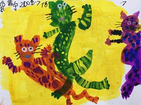 玩耍的猫-儿童画班-2019年7月15日 ◆暑假班/新围店◆ 新起点画苑-学生作品