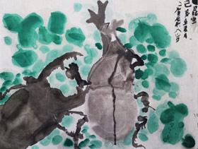 甲虫-国画班-2019年7月17日 ◆暑假班/新围店◆ 新起点画苑-学生作品