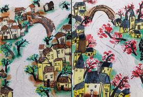 水乡-国画班-2019年7月19日 ◆暑假班/新围店◆ 新起点画苑-学生作品