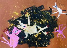 小猪玩泥巴-儿童画班-2019年7月19日 ◆暑假班/新围店◆ 新起点画苑-学生作品