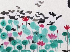 江南之夏-国画班-2019年7月20日 ◆暑假班/新围店◆ 新起点画苑-学生作品