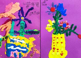 黏土花卉-儿童画班-2019年7月22日 ★暑假班/高峰店★ 新起点画苑-学生作品