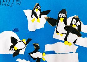 企鹅-儿童画班-2019年7月22日 ◆暑假班/新围店◆ 新起点画苑-学生作品
