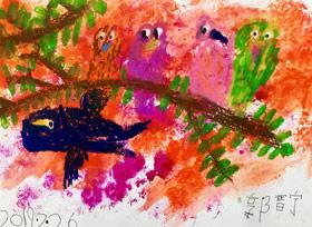 鸟儿-儿童画班-2019年7月26日 ◆暑假班/新围店◆ 新起点画苑-学生作品