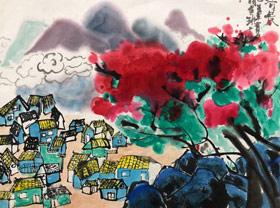 山村-国画班-2019年7月30日 ★暑假班/高峰店★ 新起点画苑-学生作品