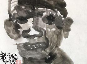 老人头像-国画班-2019年7月30日 ◆暑假班/新围店◆ 新起点画苑-学生作品