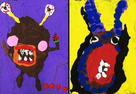 怪兽-儿童画班-2019年7月30日 ◆暑假班/新围店◆ 新起点画苑-学生作品