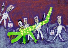 鳄鱼拔牙-儿童画大师A班-2019年9月13日 ◆秋季班/高峰店◆ 新起点画苑-学生作品