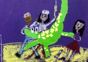 鳄鱼拔牙-儿童画大师B班-2019年9月15日 ◆秋季班/高峰店◆ 新起点画苑-学生作品