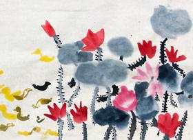 荷塘-国画基础班-2019年9月28日 ◆秋季班/高峰店◆ 新起点画苑-学生作品