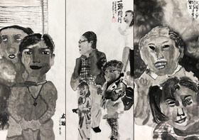 人物-国画大师班-2019年9月28日 ◆秋季班/高峰店◆ 新起点画苑-学生作品