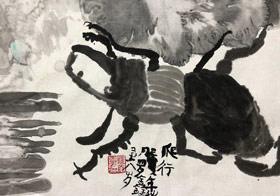 甲虫-国画基础班-2019年10月13日 ◆秋季班/高峰店◆ 新起点画苑-学生作品