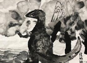 恐龙-国画基础班-2019年10月19日 ◆秋季班/高峰店◆ 新起点画苑-学生作品