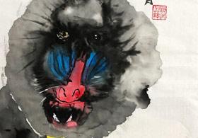 山魈-国画基础班-2019年10月26日 ◆秋季班/高峰店◆ 新起点画苑-学生作品