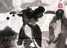 企鹅-国画基础班-2019年11月2日 ◆秋季班/高峰店◆ 新起点画苑-学生作品