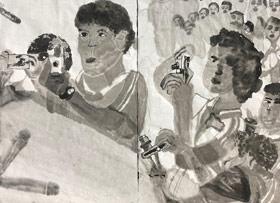 图片写生-国画大师班-2019年11月2日 ◆秋季班/高峰店◆ 新起点画苑-学生作品