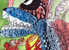似鱼飞鱼-儿童画大师A班-2019年11月15日 ◆秋季班/高峰店◆ 新起点画苑-学生作品