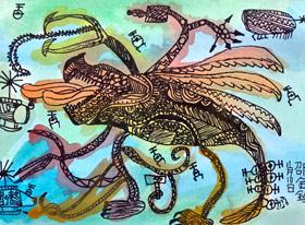 似鱼飞鱼-儿童画大师B班-2019年11月16日 ◆秋季班/高峰店◆ 新起点画苑-学生作品