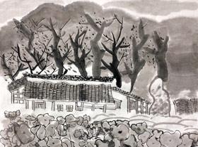 风景印象-国画大师班-2019年11月23日 ◆秋季班/高峰店◆ 新起点画苑-学生作品