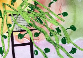 珍珠吊兰-儿童画启智班-2019年11月22日 ◆秋季班/高峰店◆ 新起点画苑-学生作品