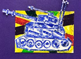 战火中的坦克-儿童画基础A班-2019年11月22日 ◆秋季班/高峰店◆ 新起点画苑-学生作品
