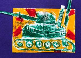 战火中的坦克-儿童画基础B班-2019年11月23日 ◆秋季班/高峰店◆ 新起点画苑-学生作品