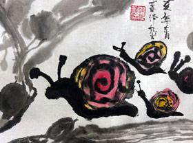 蜗牛-国画基础班-2019年11月30日 ◆秋季班/高峰店◆ 新起点画苑-学生作品