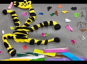 爱跳舞的斑马-儿童画启智班-2019年11月29日 ◆秋季班/高峰店◆ 新起点画苑-学生作品