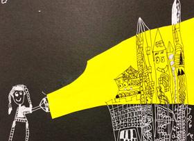 手电筒下的城堡-儿童画创想班-2019年11月30日 ◆秋季班/高峰店◆ 新起点画苑-学生作品
