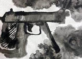 枪-国画基础班-2019年12月7日 ◆秋季班/高峰店◆ 新起点画苑-学生作品