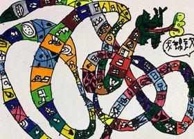 贪吃蛇-儿童画启智班-2019年12月6日 ◆秋季班/高峰店◆ 新起点画苑-学生作品