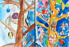 树屋-儿童画基础A班-2019年12月6日 ◆秋季班/高峰店◆ 新起点画苑-学生作品