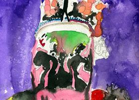 京剧人物-儿童画大师A班-2019年12月6日 ◆秋季班/高峰店◆ 新起点画苑-学生作品
