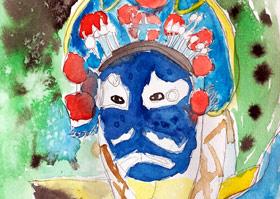 京剧人物-儿童画大师B班-2019年12月7日 ◆秋季班/高峰店◆ 新起点画苑-学生作品