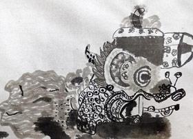 麒麟长卷-国画大师班-2019年12月14日 ◆秋季班/高峰店◆ 新起点画苑-学生作品