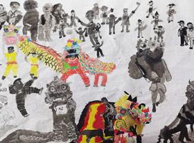 麒麟长卷-国画培优班-2019年12月21日 ◆秋季班/高峰店◆ 新起点画苑-学生作品