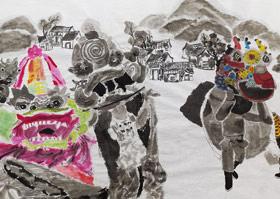 麒麟长卷-国画大师班-2019年12月21日 ◆秋季班/高峰店◆ 新起点画苑-学生作品