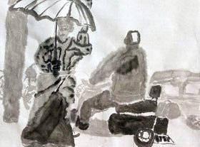 水墨人物-国画基础班-2019年12月28日 ◆秋季班/高峰店◆ 新起点画苑-学生作品