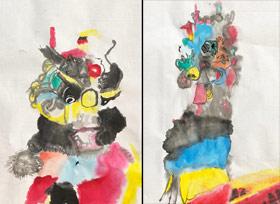 舞麒麟-国画培优班-2019年12月28日 ◆秋季班/高峰店◆ 新起点画苑-学生作品