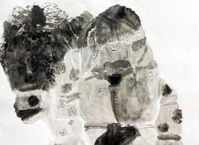 水墨人物-国画大师班-2019年12月28日 ◆秋季班/高峰店◆ 新起点画苑-学生作品