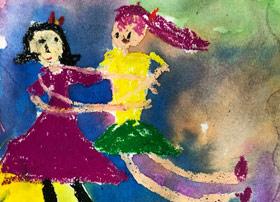 拥抱-儿童画启智班-2019年12月27日 ◆秋季班/高峰店◆ 新起点画苑-学生作品