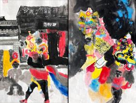 舞麒麟-国画培优班-2020年1月4日 ◆秋季班/高峰店◆ 新起点画苑-学生作品