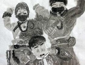 水墨人物-国画大师班-2020年1月4日 ◆秋季班/高峰店◆ 新起点画苑-学生作品